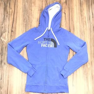 The north face womens Small hoodie Full Zip Purple